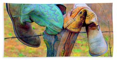 Sole Mates Hand Towel by Joe Jake Pratt