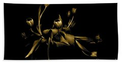 Solid Gold Hand Towel by Danica Radman