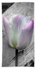 Solitary Pink Whisper Tulip Bath Towel