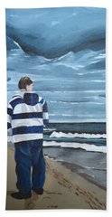 Bath Towel featuring the painting Solitude by Donna Blossom