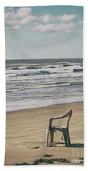 Solo On The Beach Hand Towel