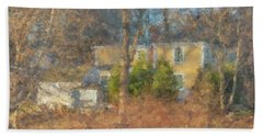 Solstice Morning Light On Colonial Home Hand Towel