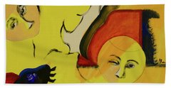 Bath Towel featuring the painting Solstice by Paul McKey