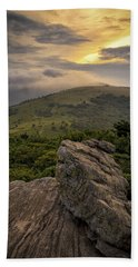 Rocky Sunset - Roan Mountain Hand Towel