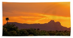 Hand Towel featuring the photograph Sombrero Peak Sunset H5 by Mark Myhaver
