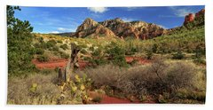Hand Towel featuring the photograph Some Cactus In Sedona by James Eddy