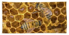 Bath Towel featuring the photograph Some Of Your Beeswax by Bill Pevlor