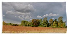 Bath Towel featuring the photograph Somerset Sky 3069 by Guy Whiteley