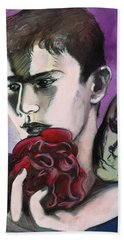 Hand Towel featuring the painting Sometimes Your Eyes by Rene Capone
