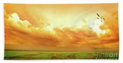 Somewhere In Africa Hand Towel by Charuhas Images