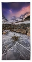 Somewhere In The Canadian Rockies Bath Towel