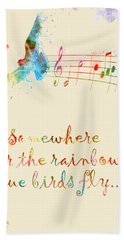 Somewhere Over The Rainbow Hand Towel by Nikki Smith
