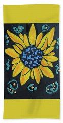 Bath Towel featuring the painting Son Flower by Deborah Boyd