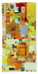 Song Of Solar Fusion Bath Towel by Regina Valluzzi