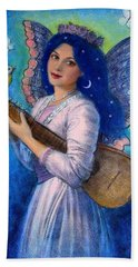 Songbird For A Blue Muse Hand Towel