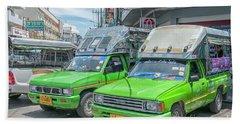 Hand Towel featuring the photograph Songthaew Taxi by Antony McAulay