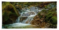 Bath Towel featuring the photograph Sonoma Valley Creek by Bill Gallagher