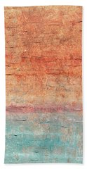 Sonoran Desert #1 Southwest Vertical Landscape Original Fine Art Acrylic On Canvas Bath Towel