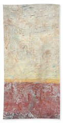 Sonoran Desert #2 Southwest Vertical Landscape Original Fine Art Acrylic On Canvas Bath Towel