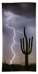 Hand Towel featuring the photograph Sonoran Desert Monsoon Storming by James BO Insogna