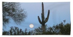 Sonoran Desert Moonset Bath Towel
