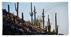 Sonoran Desert Saguaro Slope Bath Towel