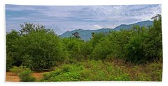 Hand Towel featuring the photograph Sonoran Greenery H30 by Mark Myhaver