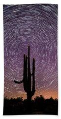 Sonoran Star Trails Bath Towel