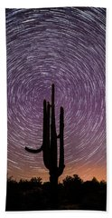 Sonoran Star Trails Bath Towel