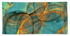 Hand Towel featuring the digital art Soothing Blue by Deborah Benoit