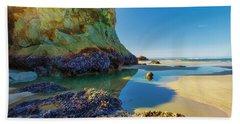 Soothing Seaside Landscape Hand Towel
