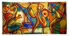 Soul Jazz Hand Towel by Leon Zernitsky