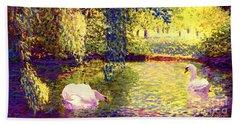 Swans, Soul Mates Hand Towel