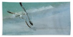 Bath Towel featuring the photograph Sound Of Seagulls by Claire Bull