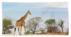 South African Giraffe Hand Towel