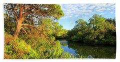 South Creek Near Nokomis, Southwest Florida, United States Bath Towel