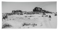 South Hessary Tor In The Snow Hand Towel