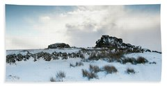 South Hessary Tor In The Snow II Bath Towel