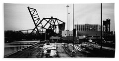 South Loop Railroad Bridge Bath Towel
