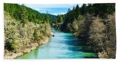 South Umpqua River Oregon  Bath Towel
