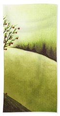 Hand Towel featuring the painting South Wind by Danielle R T Haney
