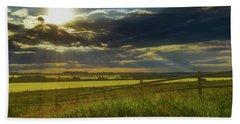 Southern Alberta Crop Land Bath Towel
