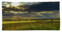 Southern Alberta Crop Land Bath Towel