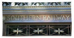 Bath Towel featuring the photograph Southern Railway Building by John S