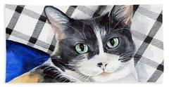 Southpaw - Calico Cat Portrait Hand Towel