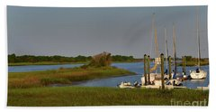 Southport Marina Sunrise Hand Towel