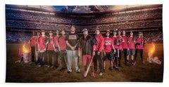 Bath Towel featuring the digital art Southwest Aztecs Baseball Organization by Nicholas Grunas