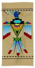 Southwest Bird Symbol Bath Towel