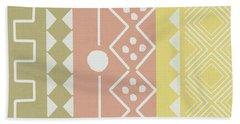 Southwest Decorative Design 6- Art By Linda Woods Hand Towel