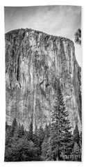 Southwest Face Of El Capitan From Yosemite Valley Hand Towel